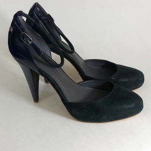 Calvin Klein Velvet Ankle Strap Heels - Size 10